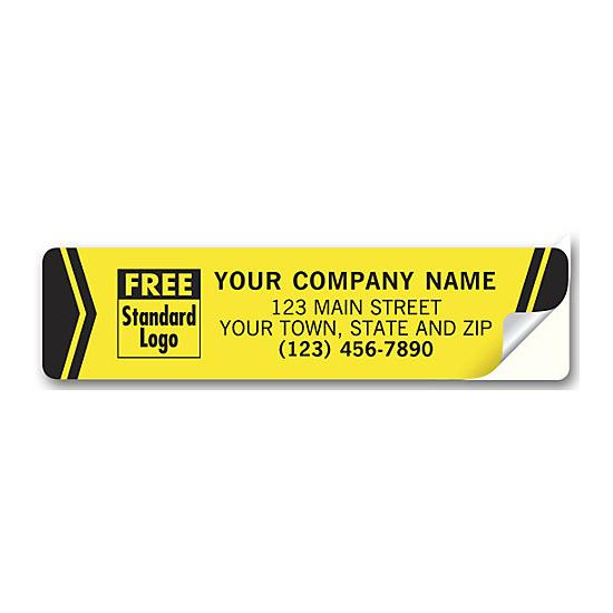[Image: Advertising Labels, Padded, Flexible Vinyl, Yellow]