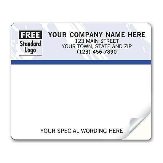 [Image: Shipping Label - Return Address Label with Color Background]