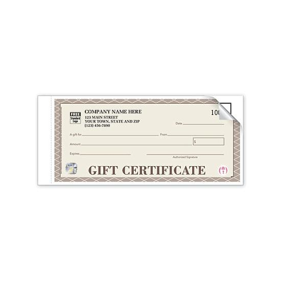 [Image: Personalized Gift Certificates - Booked, Carbon Copy, High Security]