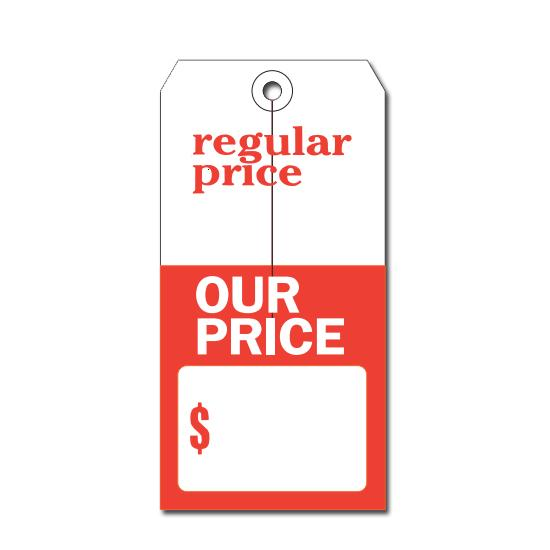 [Image: Reg Price & Our Price Retail Tag]