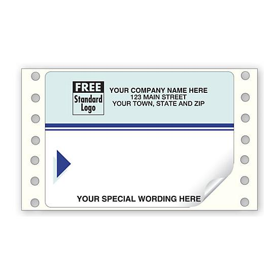 [Image: Blue Continuous Mailing Label]