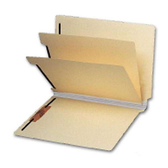 [Image: End Tab Double Divider Manila Folder, 18 Pt, Multi-Fastener]