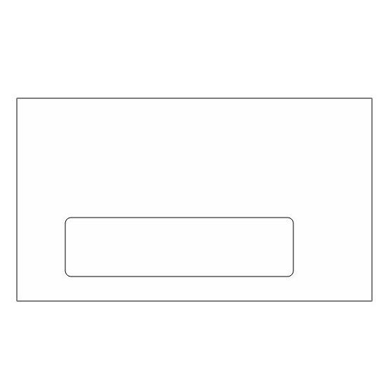 [Image: #7 3/4 Standard Window Envelope (3 7/8 x 7 1/2) - Custom Printed Envelopes]
