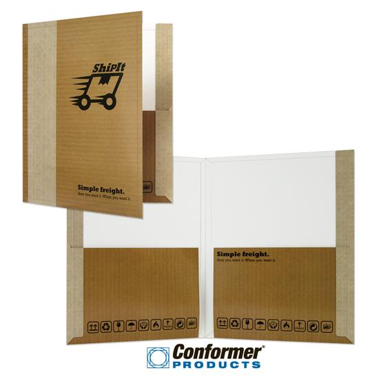 [Image: Tall Pocket Presentation Folder with pockets, Custom Printed]