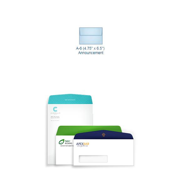 [Image: Full Color A6 Announcement Envelope - Custom Printed]
