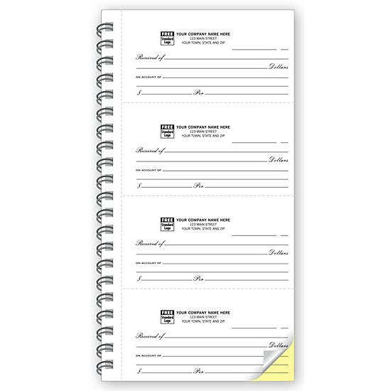 [Image: 4-To-Page 2 Part Receipt Books - Personalized - Dupliacted]
