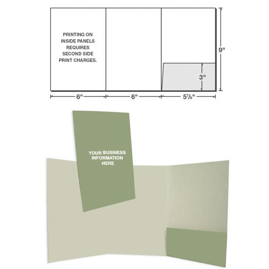 "[Image: 6"" x 9"" Three Panel Presentation Folder with One Right Pocket ]"