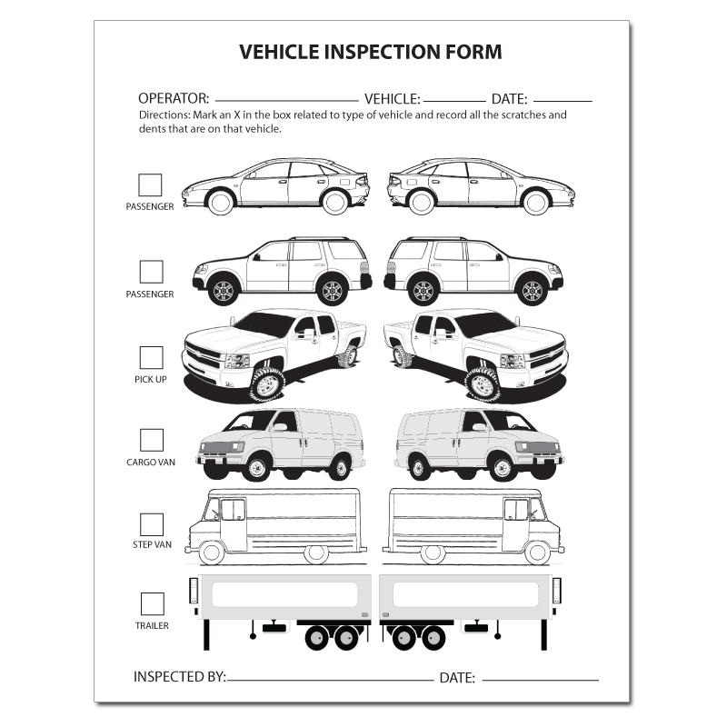 [Image: Auto, Car and Truck Dent Inspection Forms]