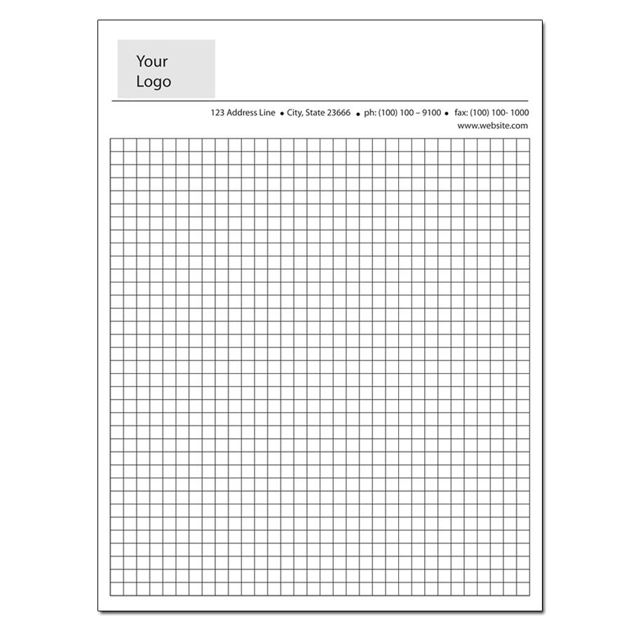 custom grid paper We offer graph pad printing such as these custom printed engineering graph pads choose from preprinted or use your own design.