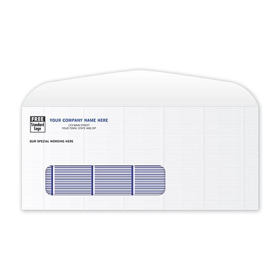 [Image: Secure Blue Tint #9 Single Window Envelope]