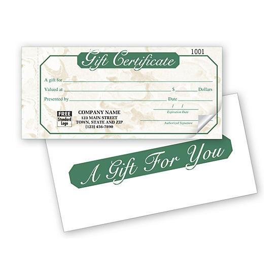 [Image: Gift Certificate Snap sets - Ivory Marble Design]