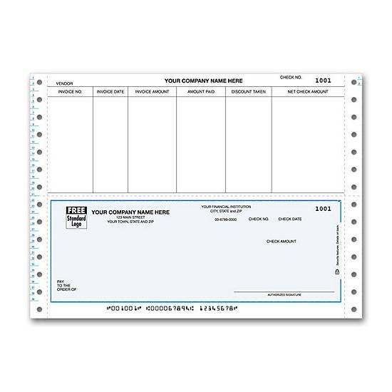 [Image: Continuous Bottom Accounts Payable Check DCB228]