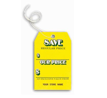 [Image: Sale Save Tag, Yellow Small]