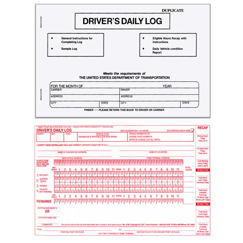 [Image: Driver's Daily Log Book]