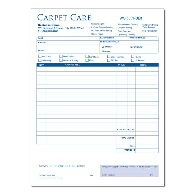 Carpet cleaning invoices floor matttroy for Custom home estimate template