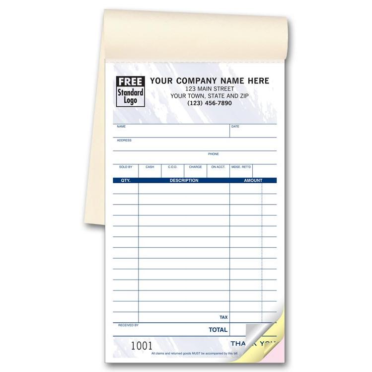 Cash Receipt  Invoice Books Custom
