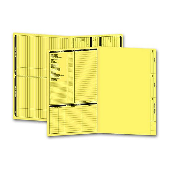 [Image: Real Estate Folder, Left Panel List, Legal Size, Yellow]