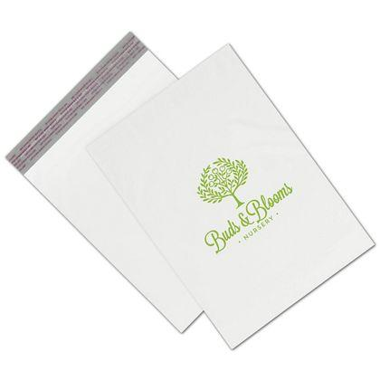 "[Image: Custom printed poly shipping bags, 10 x 13"", White]"