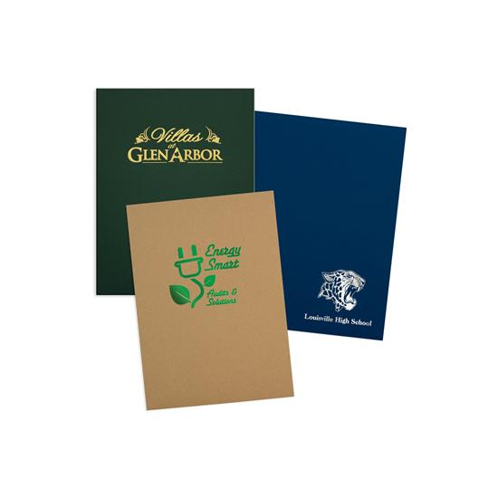 "[Image: Custom Presentation Folders with Business Card Holder, Two Pockets, 9 x 12""]"