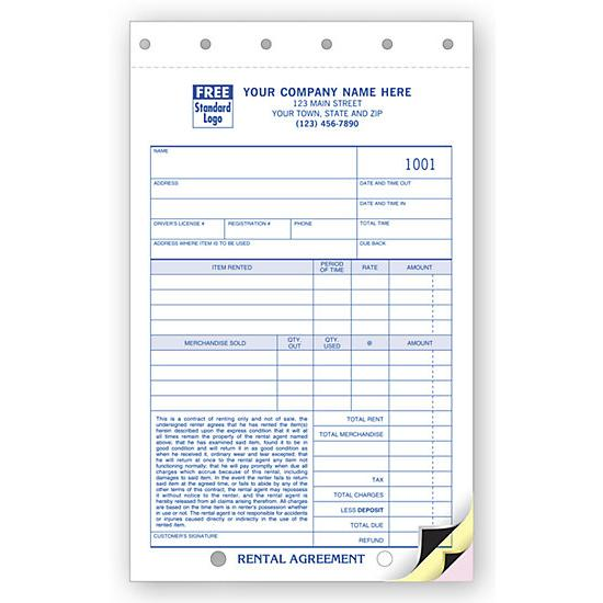 Rent Invoice Carbonless Invoice Form Designsnprint