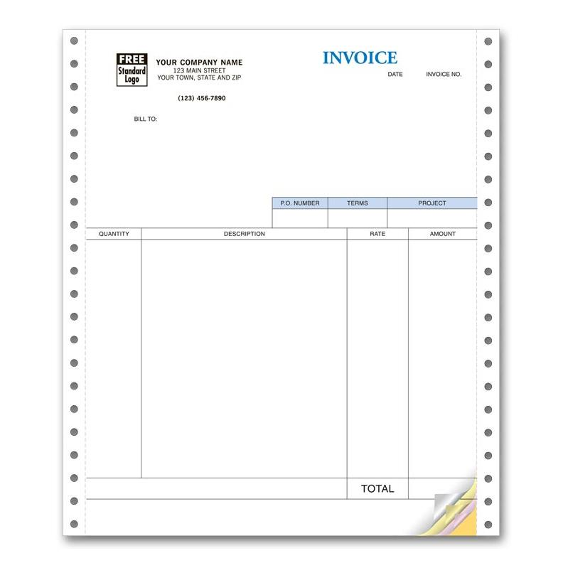 [Image: Continuous Statement Invoice Form 13050]