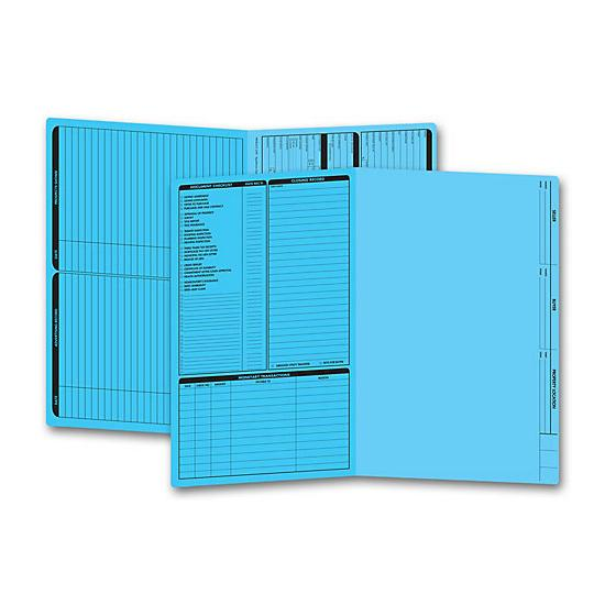 [Image: Real Estate Folder, Left Panel List, Legal Size, Blue]