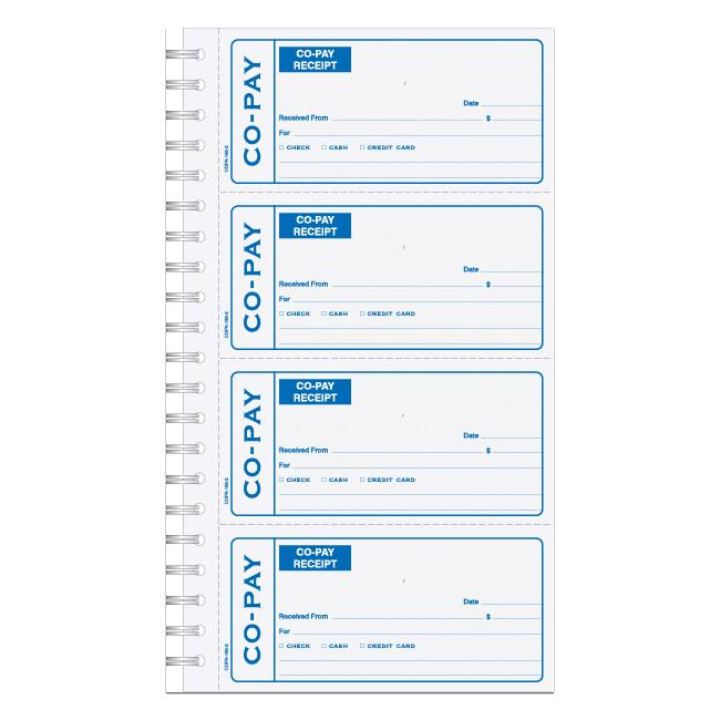 [Image: Co-Pay Medical Receipt Book]