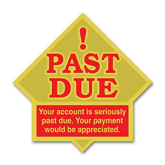 [Image: Past Due Label]