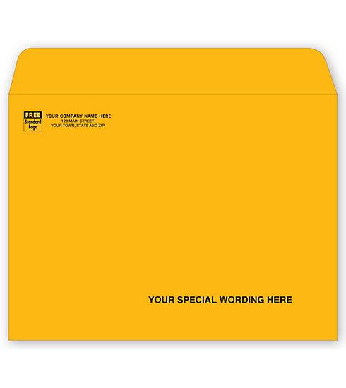 [Image: Brown Kraft Mailing Envelope - Open Side - 9 x 12]