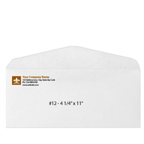 [Image: Custom Printed Business Envelope - #12 - 4 1/4 x 11]
