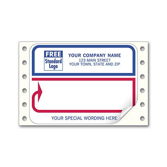 [Image: Shipping Label - Continuous Mailing Label, White With Red & Blue Border]