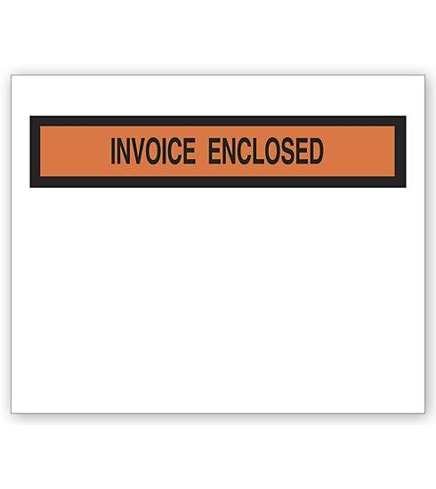 [Image: Invoice Envelope, Pressure Sensitive Backing, Clear]