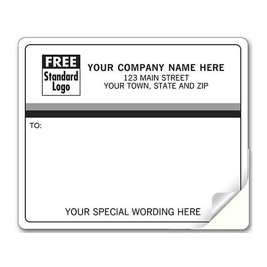 [Image: Shipping Label - Return Address Label Pre-Printed with Black & Grey Border]