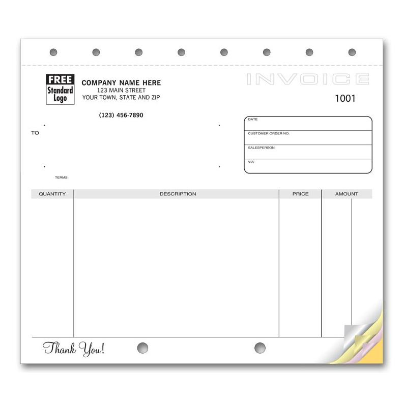 [Image: Invoice Form No Lines]