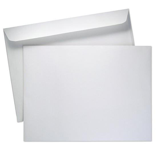 [Image: 9 1/2 x 12 5/8 White Booklet Envelope - Custom Printed]
