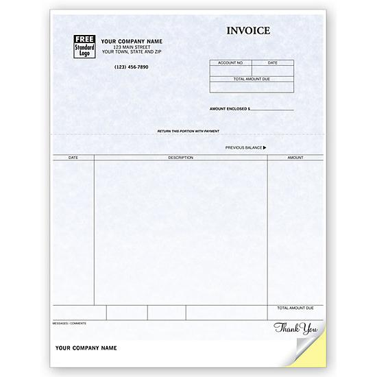 [Image: Invoice Form, Laser and Inkjet Compatible, Parchment, Personalized]