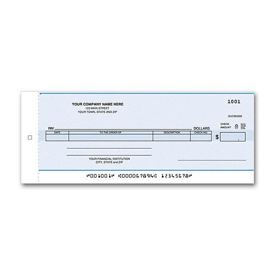 [Image: Compact General Disbursement Center Check]