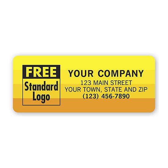 [Image: Advertising Labels, Yellow With Orange Sunset Shaded]