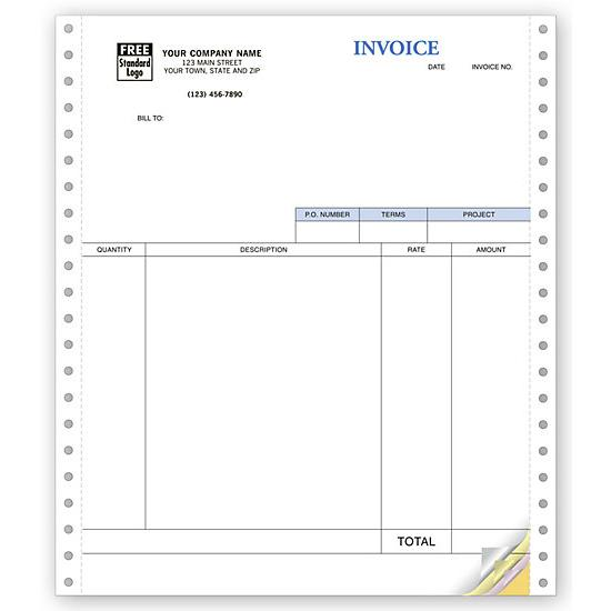 [Image: Continuous Classic Service Invoices - Cabonless Forms]