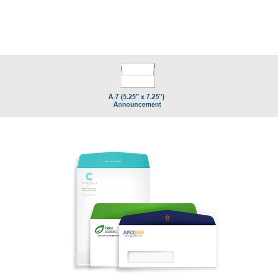 [Image: Full Color A-7 Announcement Envelope - Custom Printed with Return Address]