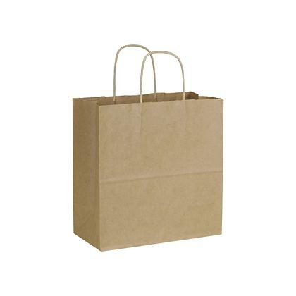 "[Image: Emerald Shoppers Bag, Recycled Kraft, 10 x 5 x 10 1/2""]"