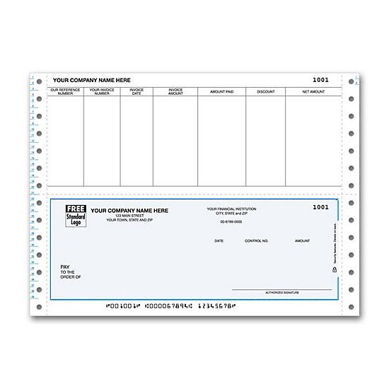 [Image: Continuous Bottom Accounts Payable Check DCB217]