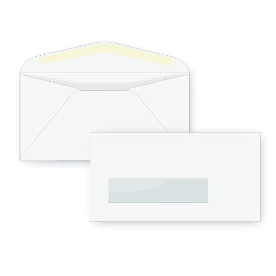[Image: 3 3/4 x 6 3/4 Custom Printed Envelopes | #7 Standard Window Envelope]