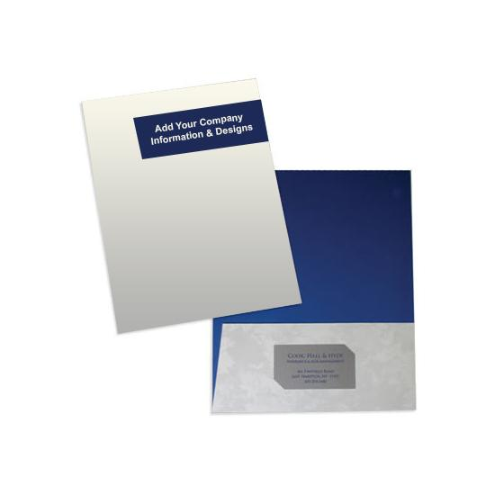 [Image: Custom Printed Tax Return Folder, Two-Piece Cover with Pocket]
