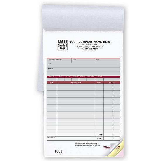 [Image: Custom Sales Receipt Book]