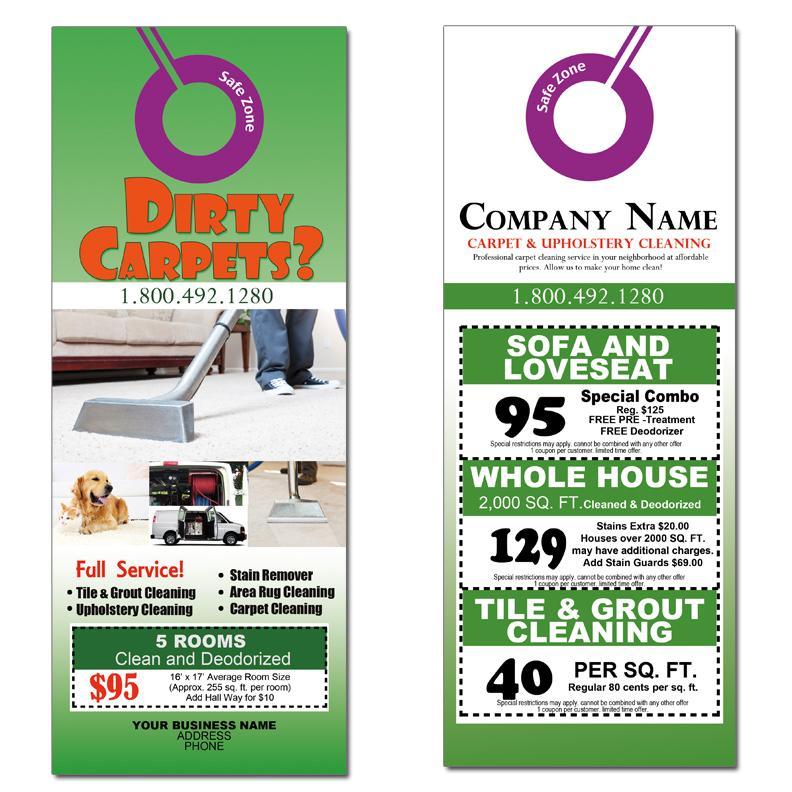 Elegant Carpet Cleaning Marketing With Door Hangers
