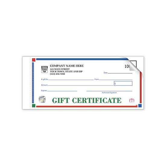 [Image: Personalized Gift Certificates - Individual Set]