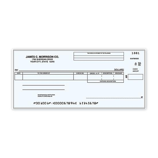 [Image: Accounts Payable One Write Check]