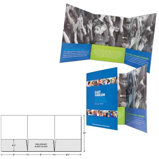 [Image: Custom Presentation Folder With Three Panels & Pockets]