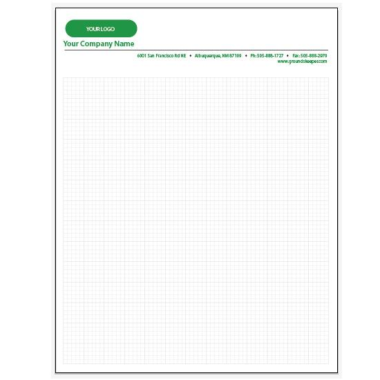 [Image: Personalized Graph Paper Pads - 5 x 5 Squares per Inch Pad]